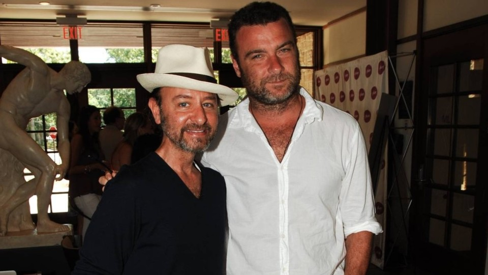 Liev Schreiber and Fisher Stevens at Hamptons for Haiti