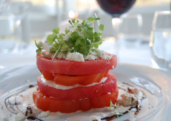 Georgica Watermelon Heirloom Tomato Salad