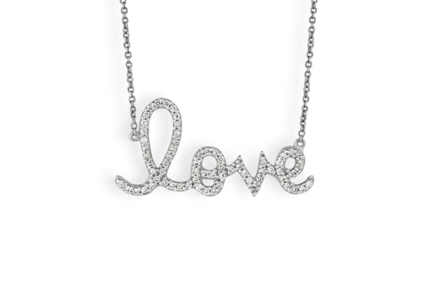 Sydney Evans love necklace