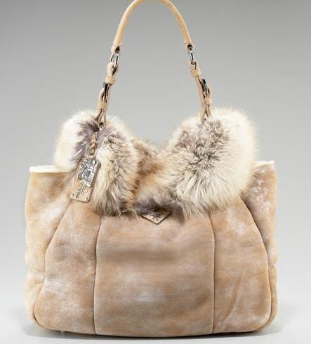 0a277f734b Prada Fur Open-Top Tote  2895 Prada Napa Borchie Studded Lambskin Chain Bag   2350 Prada ...