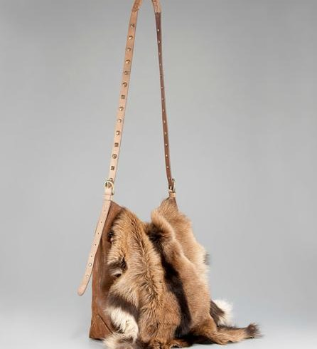 4a8024941c ... Prada Napa Antik   Eco Pelliccia Faux Fur Chain Bag  1365 Henry ...