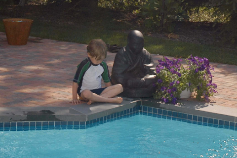 JS son Declan and buddah