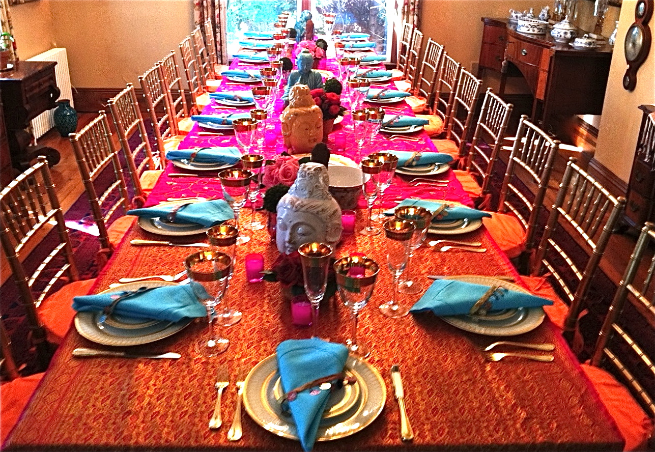 Kdh hosts an exotic indian dinner see pix how to party for Dinner decoration