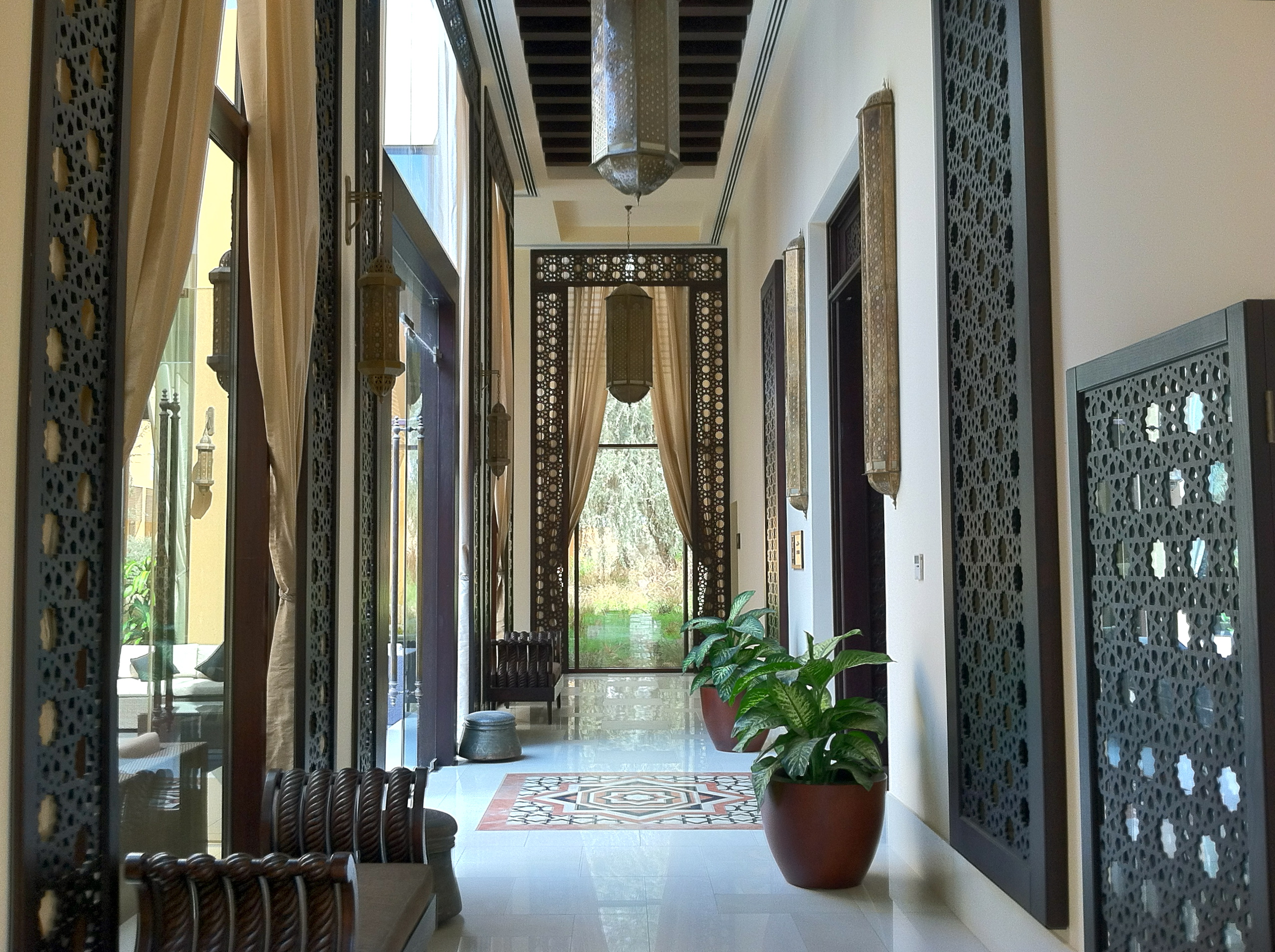 The contemporary adaptation of traditional Arabic architecture is a tribute to the heritage of the region.