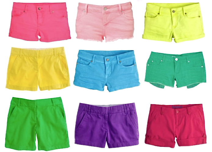 Colored Denim Shorts - The Else