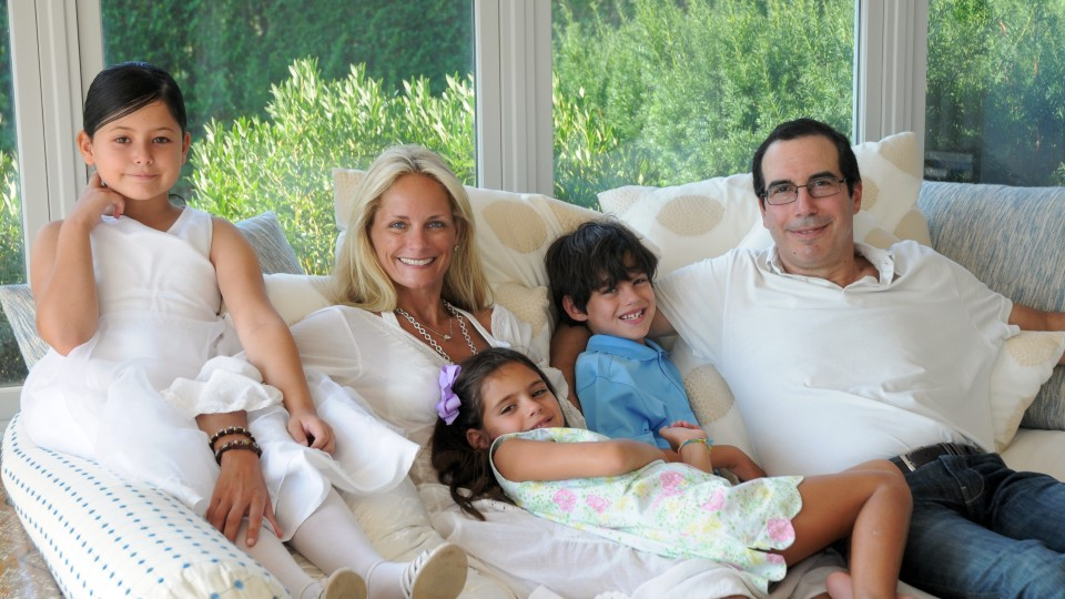 Heather Mnuchin and family