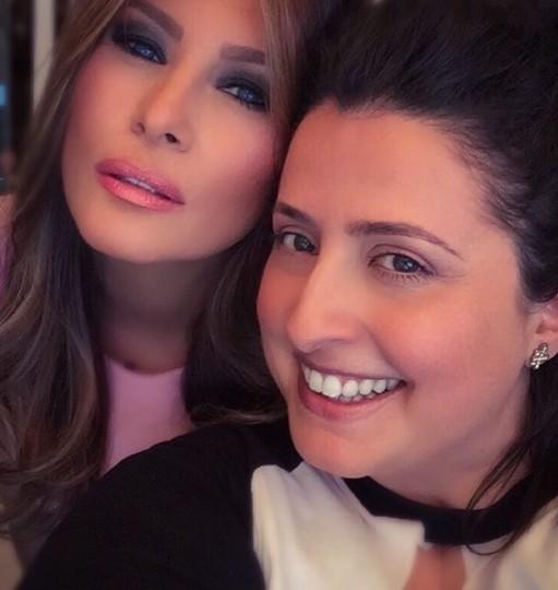Nicole Bryl with Melania Trump