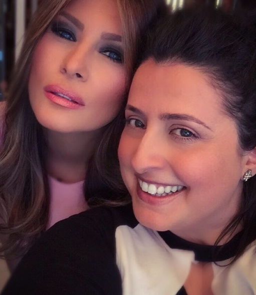 Nicole Bryl with Melania Trump