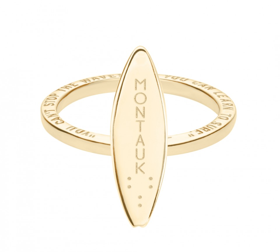 Montauk Surfboard Ring Gold