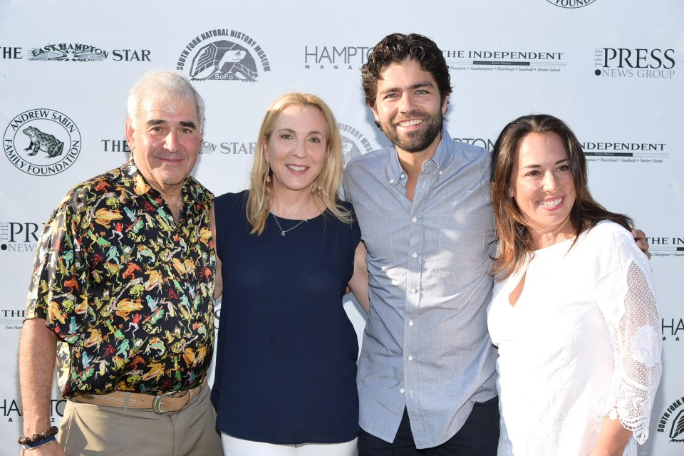 Andy Sabin, Susan Rockefeller,Adrian Grenier, Samantha Yanks photo by Rob Rich/SocietyAllure.com © 2015 robwayne1@aol.com 516-676-3939