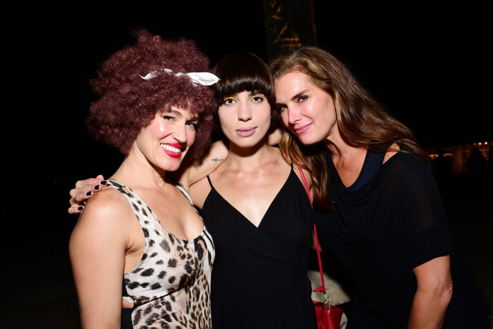 Sierra Casady, Nadya Tolokonnikova, Brooke Shields==Circus of Stillness... the power over wild beasts?: The 22nd Annual Watermill Center Summer Benefit & Auction==The Watermill Center, Watermill, NY==July 25, 2015==©Patrick McMullan==Photo - Sean Zanni/PatrickMcMullan.com====