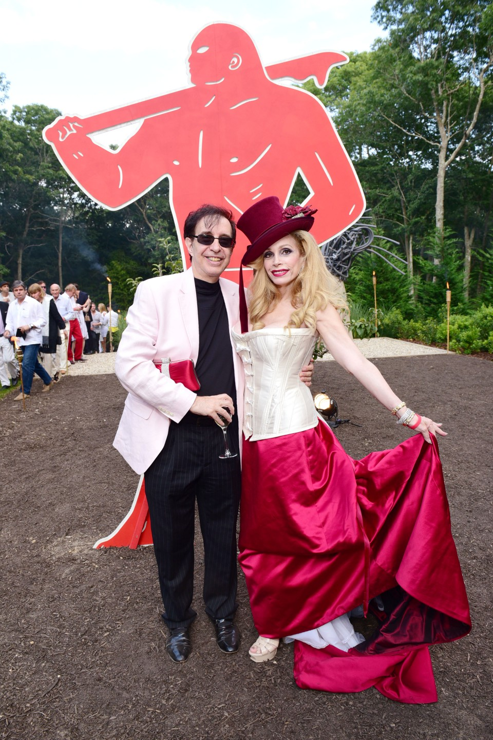Alan Marks, Joy Marks== Circus of Stillness... the power over wild beasts?: The 22nd Annual Watermill Center Summer Benefit & Auction== The Watermill Center, Watermill, NY== July 25, 2015== ©Patrick McMullan== Photo - Sean Zanni/PatrickMcMullan.com== ==