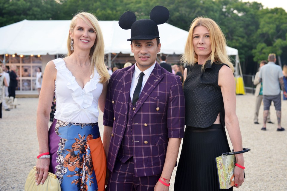 Sara Herbert Galloway, Victor de Souza, Daniela Zahradnikova== The Circus of Stillness... the power over wild beasts: The 22nd Annual Watermill Center Summer Benefit & Auction== The Watermill Center, Watermill, NY== July 25, 2015== ©Patrick McMullan== Photo - Jared Siskin/PatrickMcMullan.com== ==