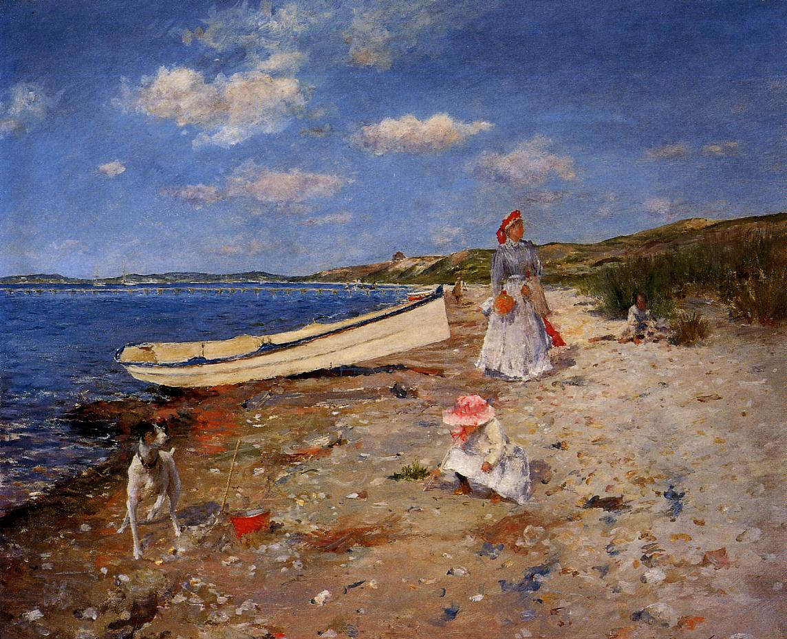 4 A Sunny Day at Shinnecock Bay by William Merritt Chase