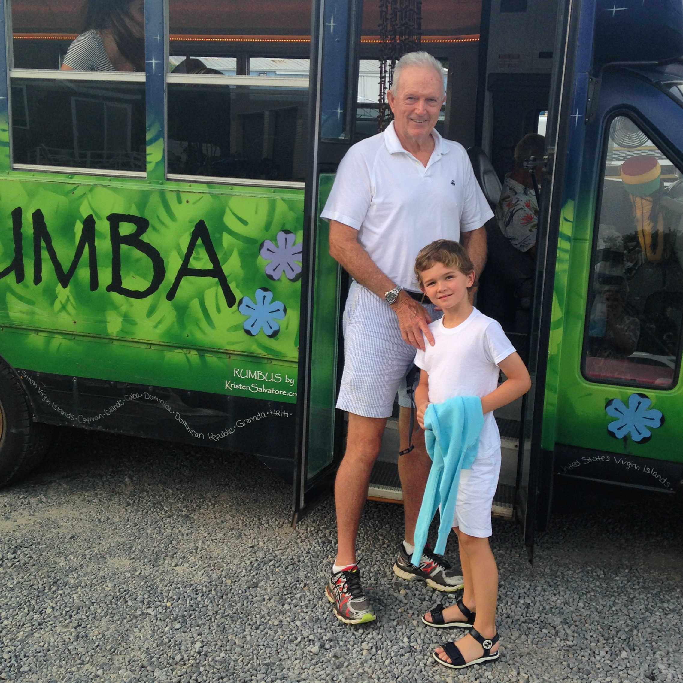 Brady and his grandfather Paul at Rumba