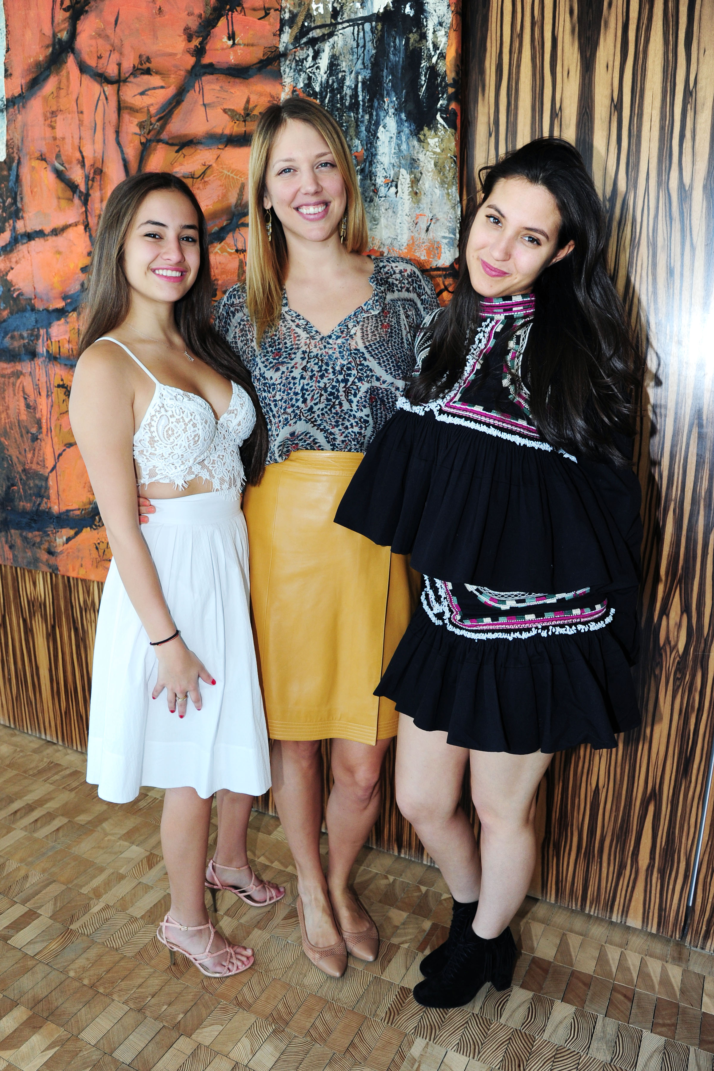 Ava Schrager, Karoline Katus, Sophia Schrager== Joyful Heart Foundation x Me&Ro hosted by GenerationJOY== Private Residence, NYC== April 10, 2016== ©Patrick McMullan== Photo – Liam McMullan/PMC==