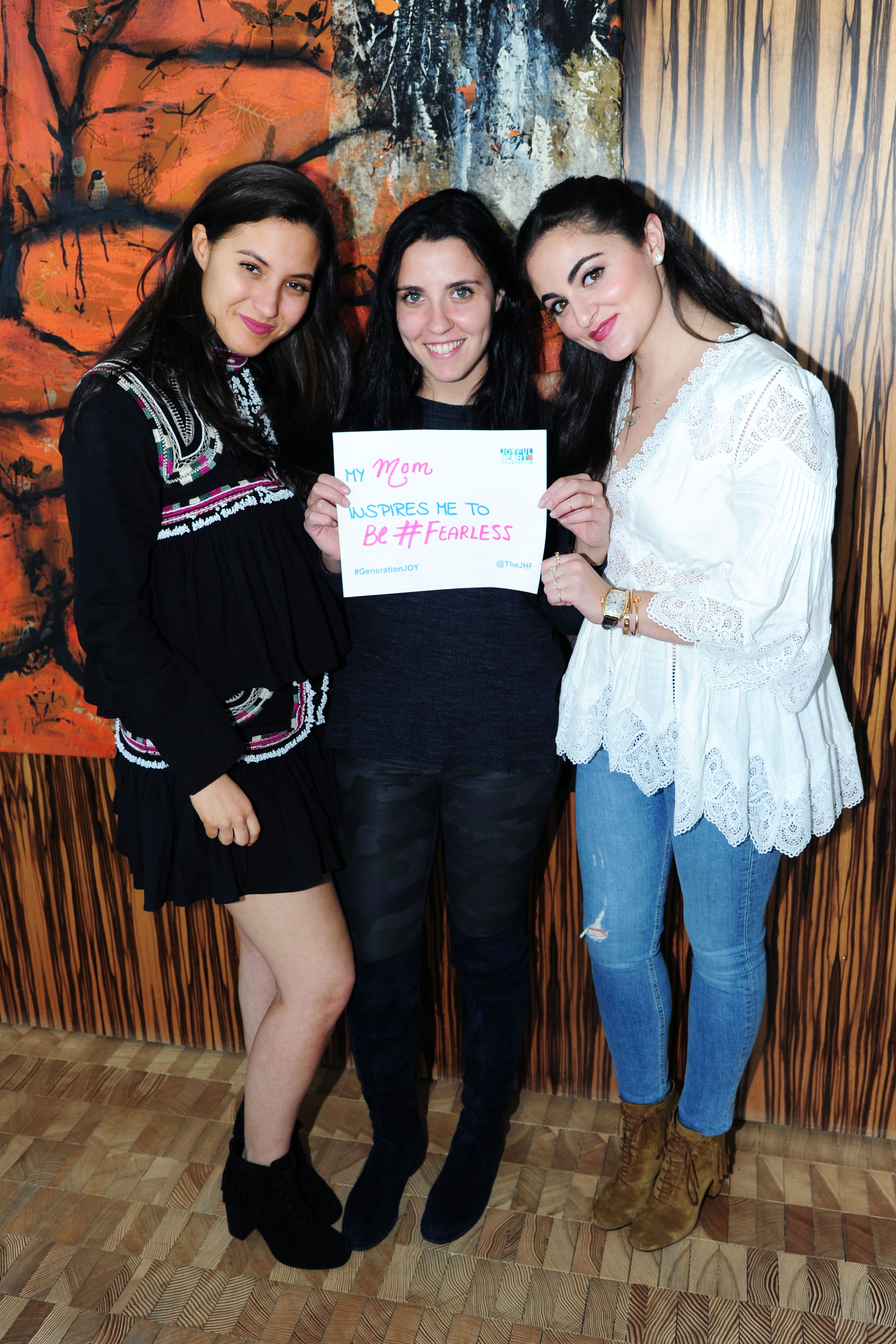 Sophia Schrager, Sophie Lasry, Emma Lasry== Joyful Heart Foundation x Me&Ro hosted by GenerationJOY== Private Residence, NYC== April 10, 2016== ©Patrick McMullan== Photo – Liam McMullan/PMC==