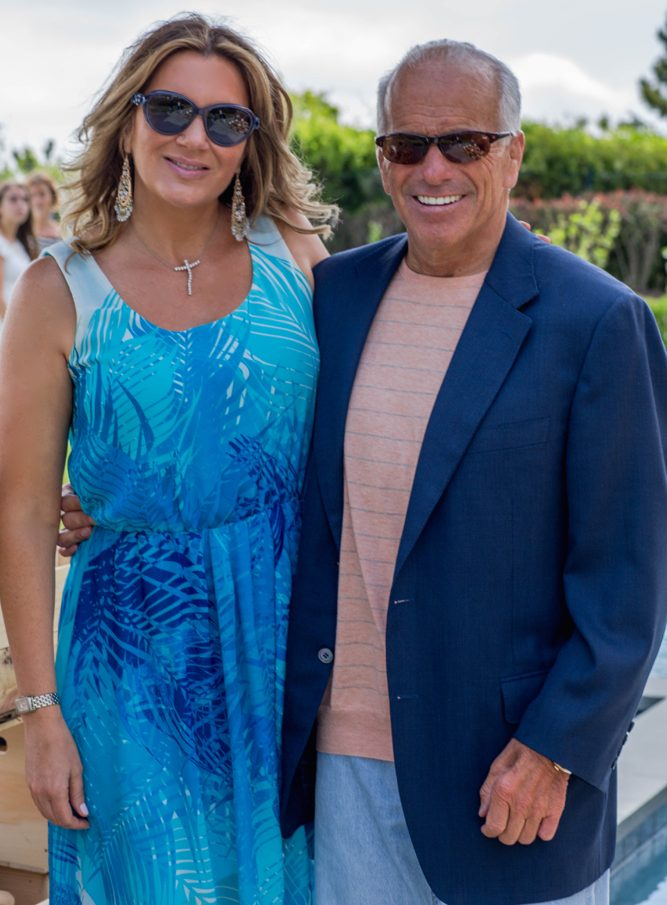 KDHamptons editor Keli Delaney and Gary DePersia