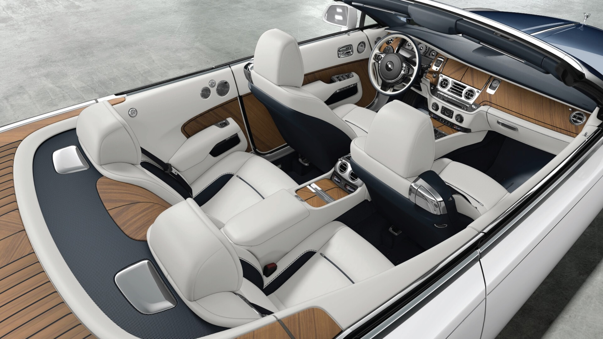 rolls royce unveils bespoke barclay butera nautical dawn at monterey car week kdhamptons. Black Bedroom Furniture Sets. Home Design Ideas