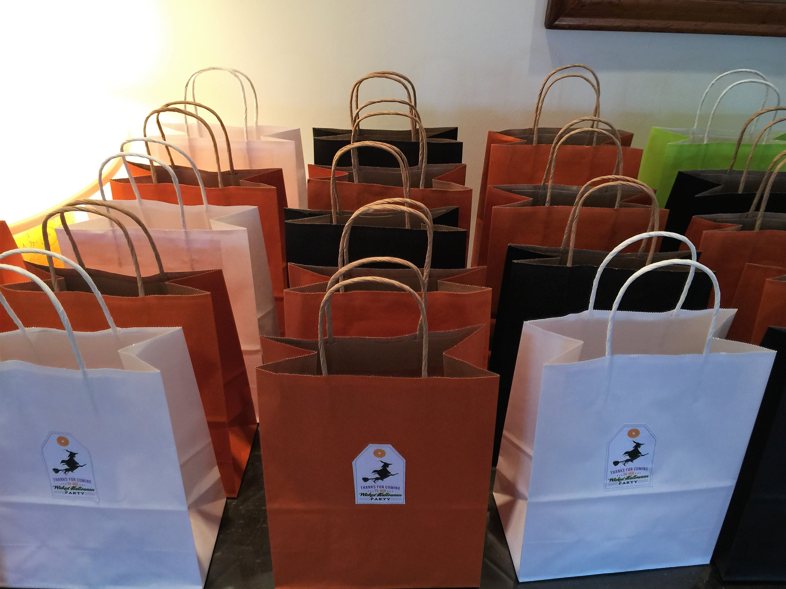 gift bags halloween party