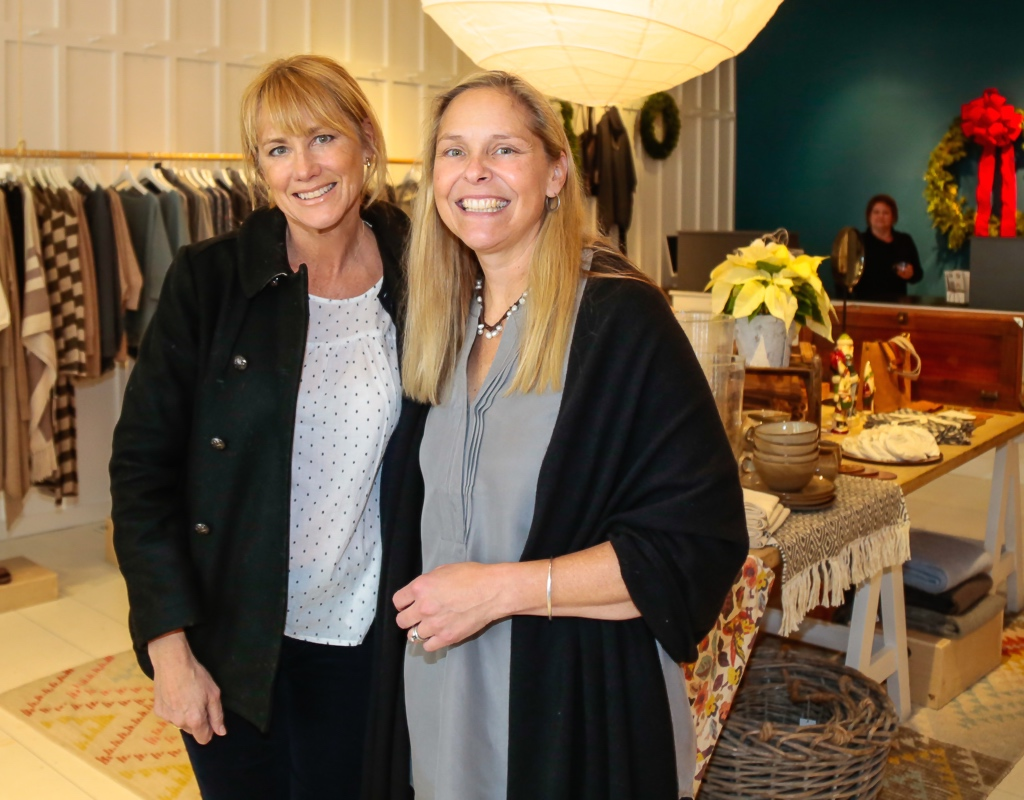 HC&G publisher Pamela Eldrige and Wendy Thayer of Garnet Hill