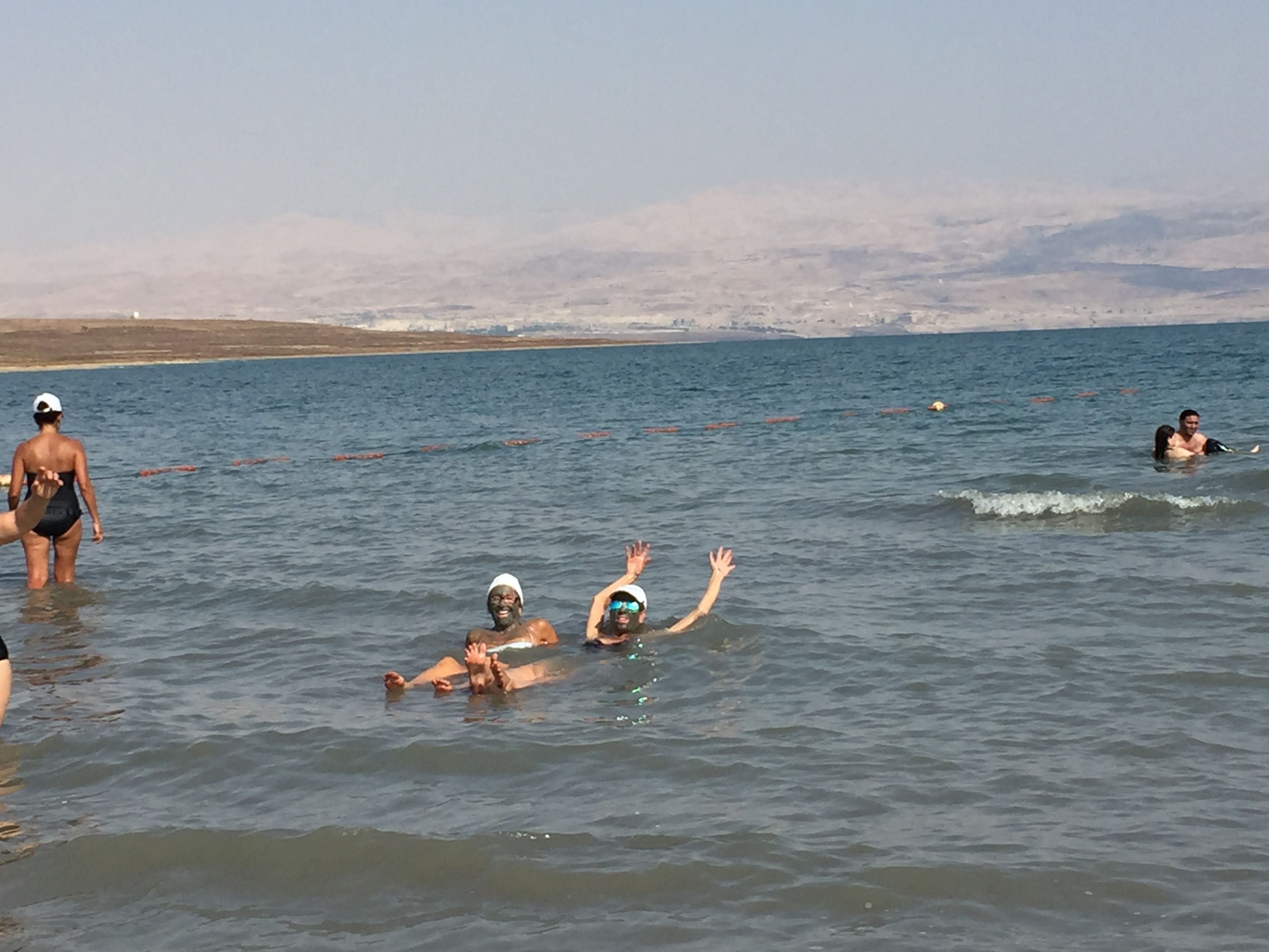Dunking in the Dead Sea