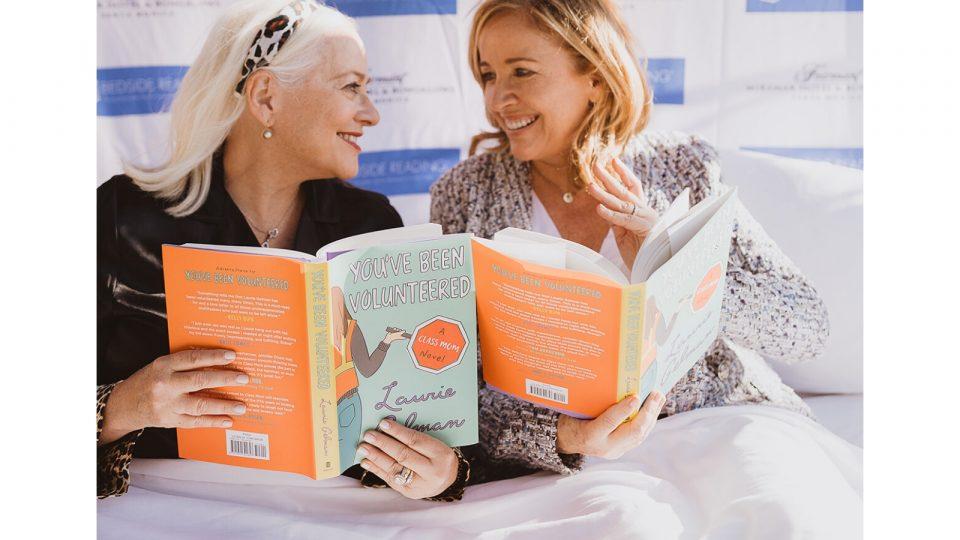Bedside-Reading-Hamptons-Winter-Weekend-l-r-Jane-Ubell-Meyer.Founder.Bedside-Reading.-Laurie-Gelman.Author.Youve-been-Volunteered