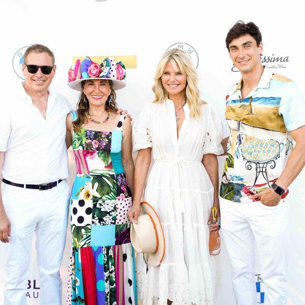 Kenneth, Maria, & Bradley Fishel Celebrate POLO Hamptons With Christie Brinkley